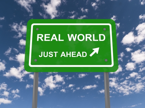 real world just ahead